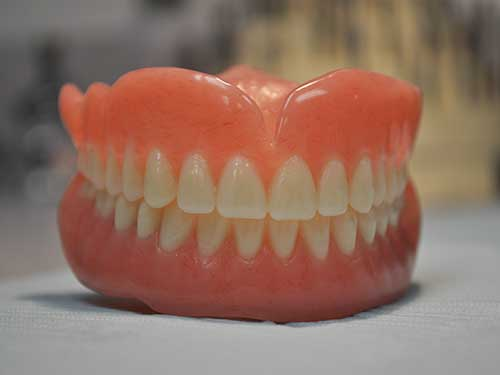 Full set of custom designed dentures